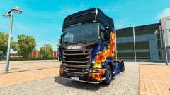 Blue Fire skin for Scania truck