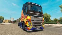 Blue Fire skin for Volvo truck for Euro Truck Simulator 2