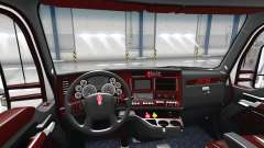 The Deluxe black interior Kenworth T680
