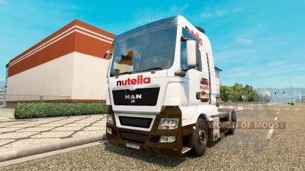 Nutella skin v2.0 tractor MAN for Euro Truck Simulator 2