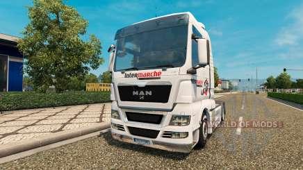 Skin Intermarket on tractor MAN for Euro Truck Simulator 2