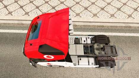 Vodafone Racing skin for Volvo truck for Euro Truck Simulator 2