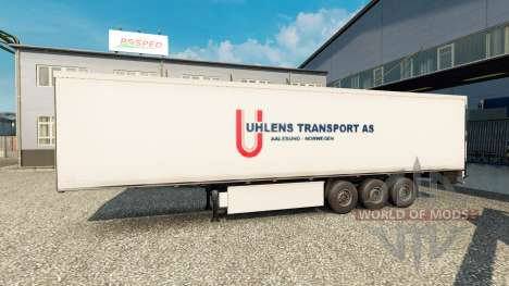 Skin Uhlen Transport AS a semi for Euro Truck Simulator 2