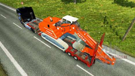 Low sweep with the excavator ATLAS for Euro Truck Simulator 2
