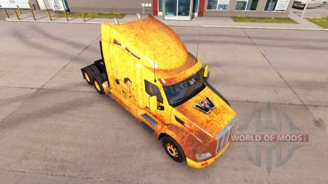 Western skin for the truck Peterbilt for American Truck Simulator
