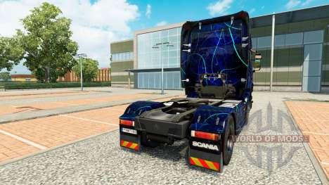 Skin Blue Smoke on tractor Scania for Euro Truck Simulator 2
