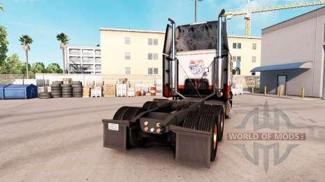 Skin USF on truck Freightliner FLB for American Truck Simulator