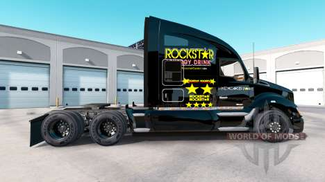Rockstar Energy skin for the Kenworth tractor for American Truck Simulator