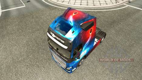 Galaxy skins for Volvo truck for Euro Truck Simulator 2