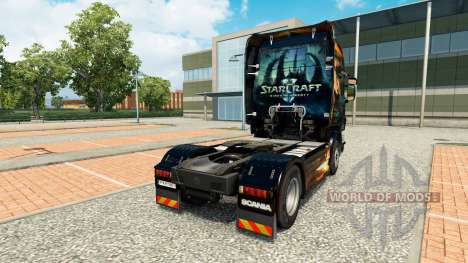 Starcraft 2 skin for Scania truck for Euro Truck Simulator 2
