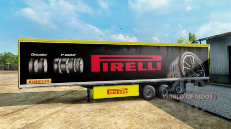 Pirelli skin for the trailer for Euro Truck Simulator 2