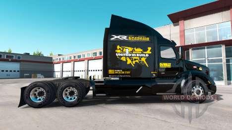 DeWalt skin for the truck Peterbilt for American Truck Simulator