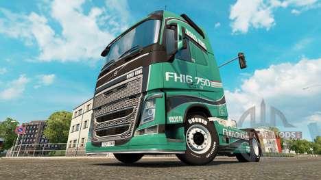 Road King skin for Volvo truck for Euro Truck Simulator 2