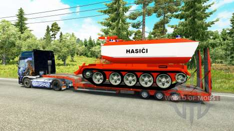 Low sweep with fire tank for Euro Truck Simulator 2
