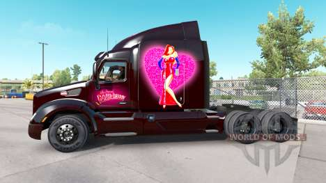 Skin Roger Rabbit Jessica on the Peterbilt tract for American Truck Simulator