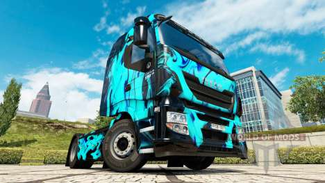 Skin Green Smoke in the tractor Iveco for Euro Truck Simulator 2