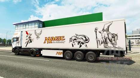 Magic skin for Scania truck for Euro Truck Simulator 2