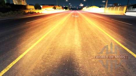 Golden-red light for American Truck Simulator
