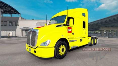 Skin on LEGO truck Kenworth for American Truck Simulator