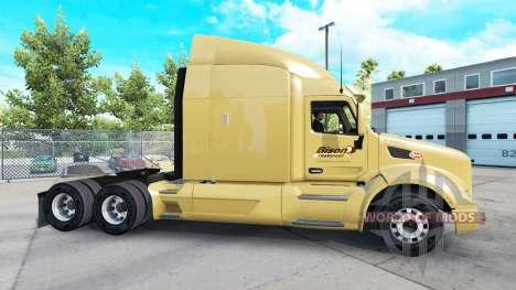 Bison Transport skin for the truck Peterbilt for American Truck Simulator