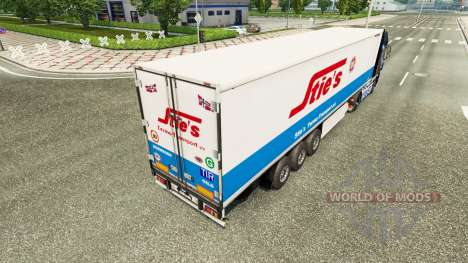 Skin Sties at the back of a semi for Euro Truck Simulator 2