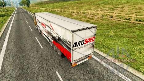 Skin Avtosped on the trailer for Euro Truck Simulator 2