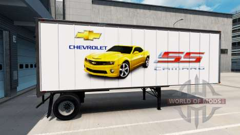 Skin American Cars on the trailer for American Truck Simulator