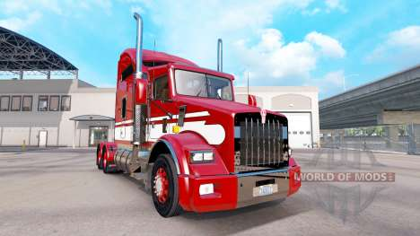 Skin Red-white-tractor Kenworth T800 for American Truck Simulator