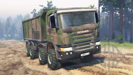 Scania Timber 8x8 for Spin Tires