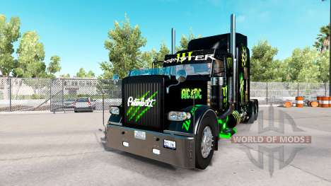 Monster Energy skin for the truck Peterbilt 389 for American Truck Simulator