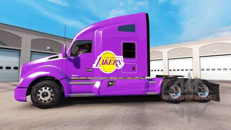 The skin Los Angeles Lakers on tractor Kenworth for American Truck Simulator