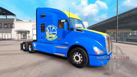Skin Golden State Warriors on tractor Kenworth for American Truck Simulator