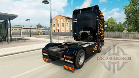 Flame skin for Scania truck for Euro Truck Simulator 2