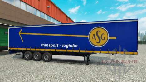 Skin ASG on the trailer for Euro Truck Simulator 2