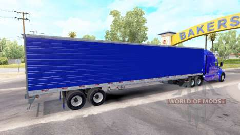 Blue refrigerated semi-trailer for American Truck Simulator