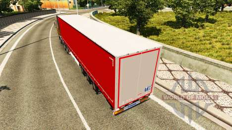 Trailer curtain Krone for Euro Truck Simulator 2