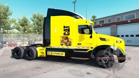 Caterpillar skin for the truck Peterbilt for American Truck Simulator