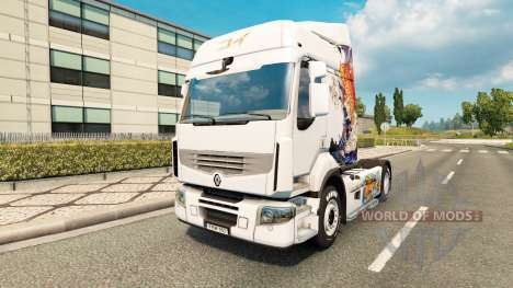 Skin Koi for tractor Renault for Euro Truck Simulator 2