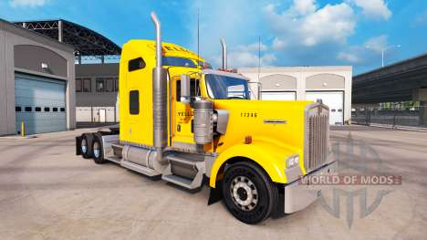 Skin Yellow Inc. for Peterbilt and Kenworth truc for American Truck Simulator