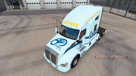 Skin Werner on tractor Kenworth for American Truck Simulator