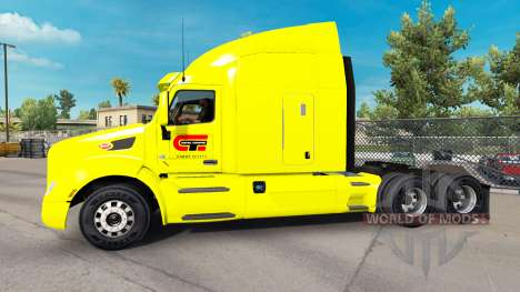 Central Transport skin for the truck Peterbilt for American Truck Simulator