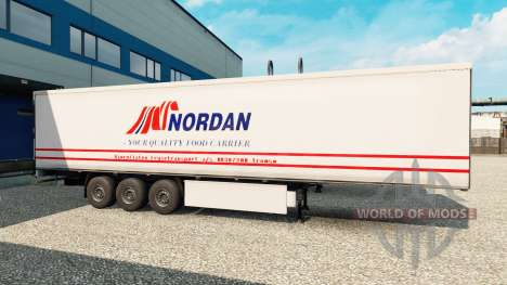 Skin Nordan on the trailer for Euro Truck Simulator 2