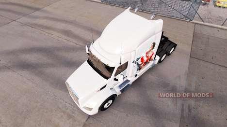 Skin Rocky Balboa on the tractor Peterbilt for American Truck Simulator