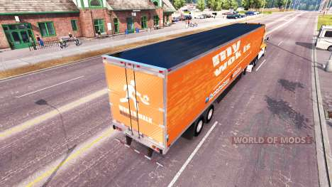 Skin Wok To Walk on a Kenworth tractor for American Truck Simulator
