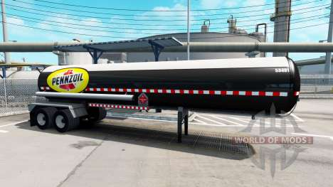A collection of skins for semi-trailers tanks for American Truck Simulator