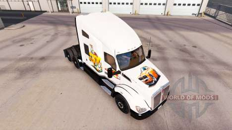 Skin Car art on a Kenworth tractor for American Truck Simulator