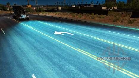 Aquamarine xenons for American Truck Simulator