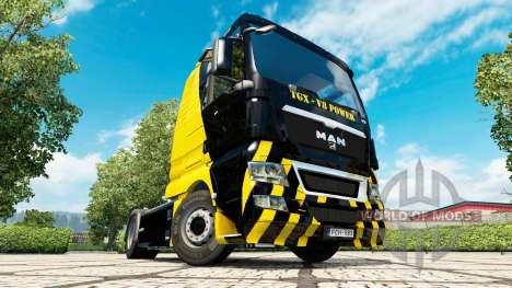 V8 Power skin for MAN truck for Euro Truck Simulator 2