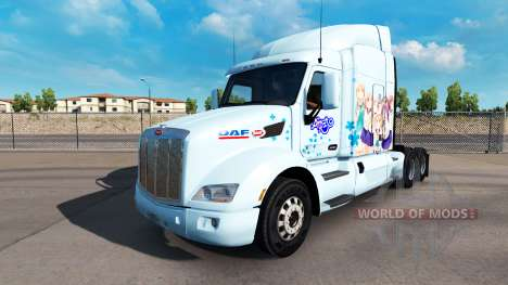 Yuyushiki skin for the truck Peterbilt for American Truck Simulator