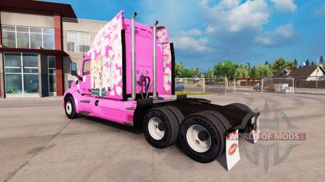 Sakura skin for the truck Peterbilt for American Truck Simulator